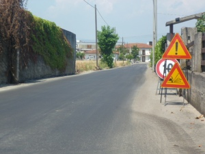 via gorizia, asfaltatura