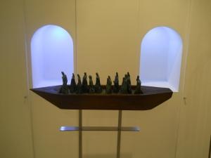 Interno Galleria LA VETRINA Trieste 2013 opere di Domenico Scolaro (2)