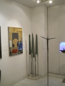 Interno galleria LA VETRINA Trieste 2013 opere di Domenico Scolaro